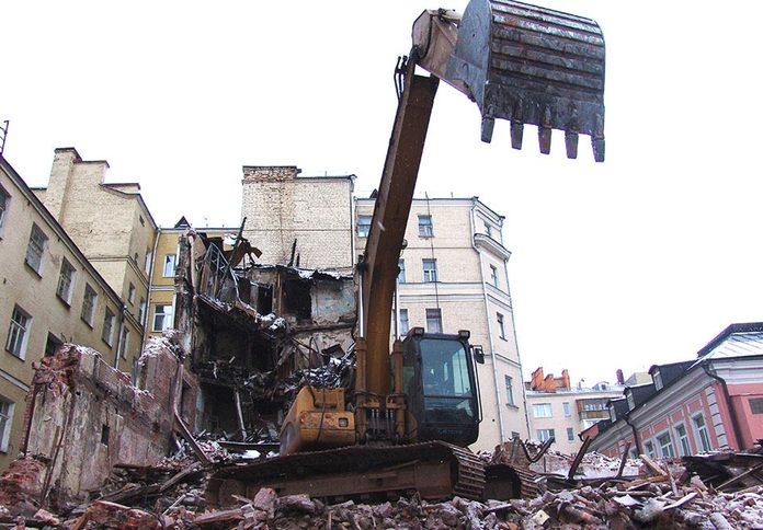 демонтажа и снос зданий