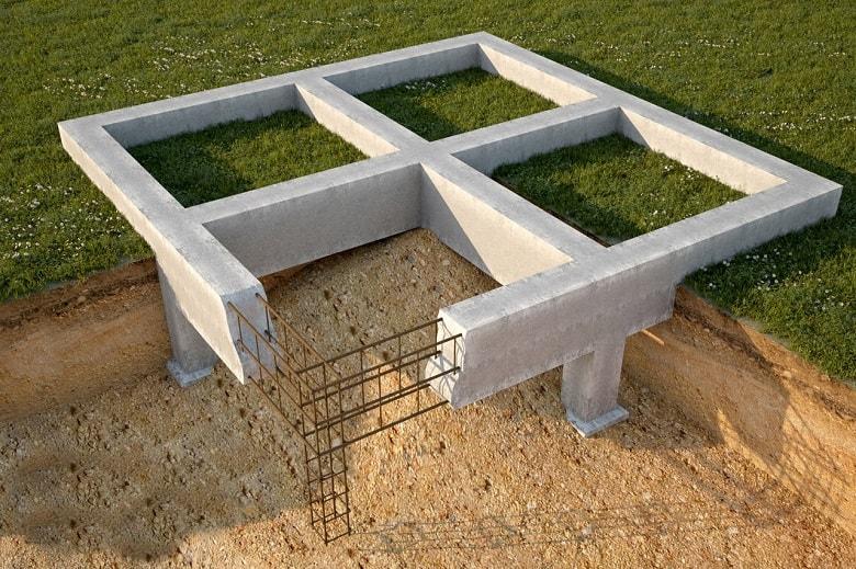 Строительство фундамента дома